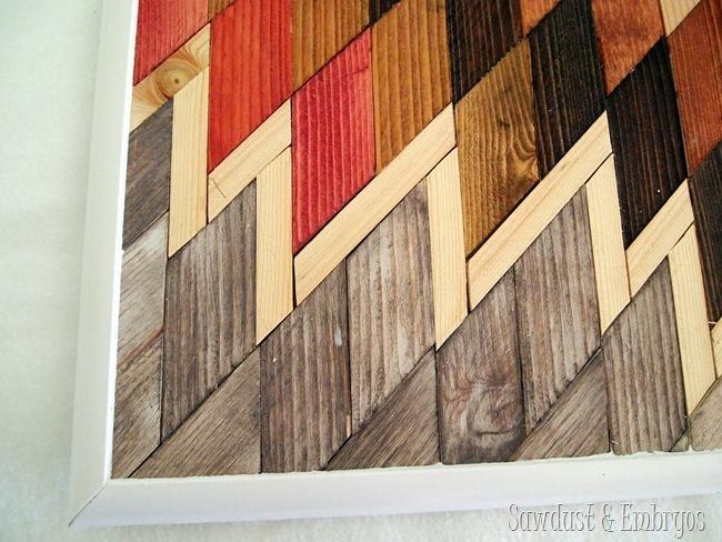 DIY Native American artwork using wood scraps
