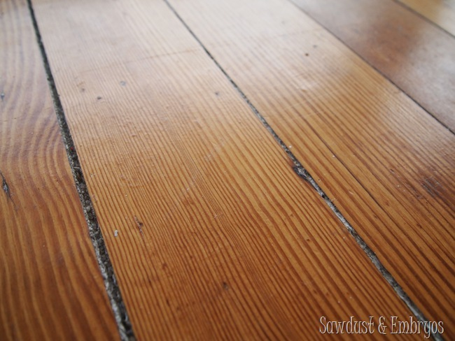 Diy dining room area rug painted linoleum reality daydream what youre looking at is the grody cracks in our 114 year old hardwood floors im not sure if our forefathers installed them with spaces between them solutioingenieria Images