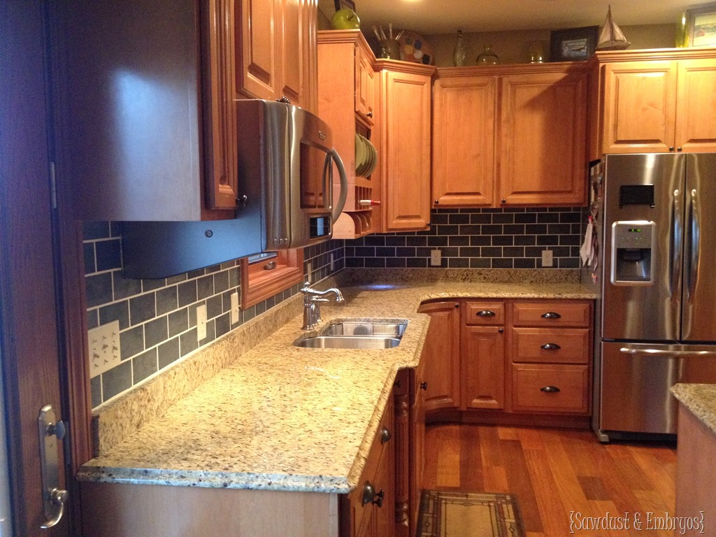 Painting Kitchen Tiles: Painted Subway Tile Backsplash Tutorial {Reality Daydream}