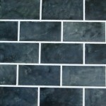 DIY Painted Backsplash ~ Slate Subway Tile
