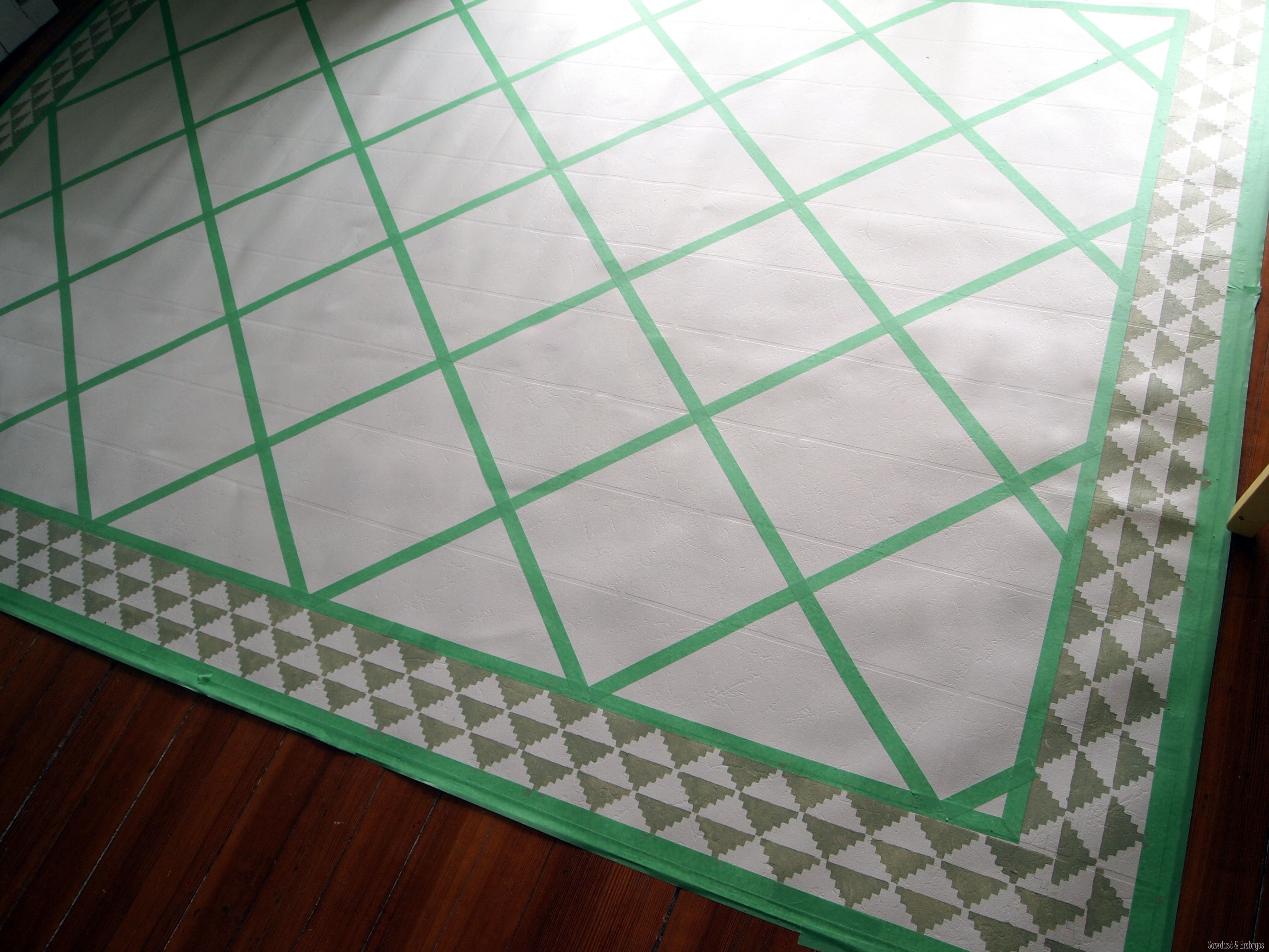 Diy Dining Room Area Rug Painted Linoleum Reality