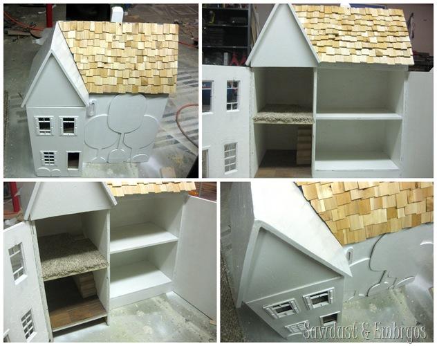 Progress on heirloom dollhouse transformation! {Sawdust and Embryos}