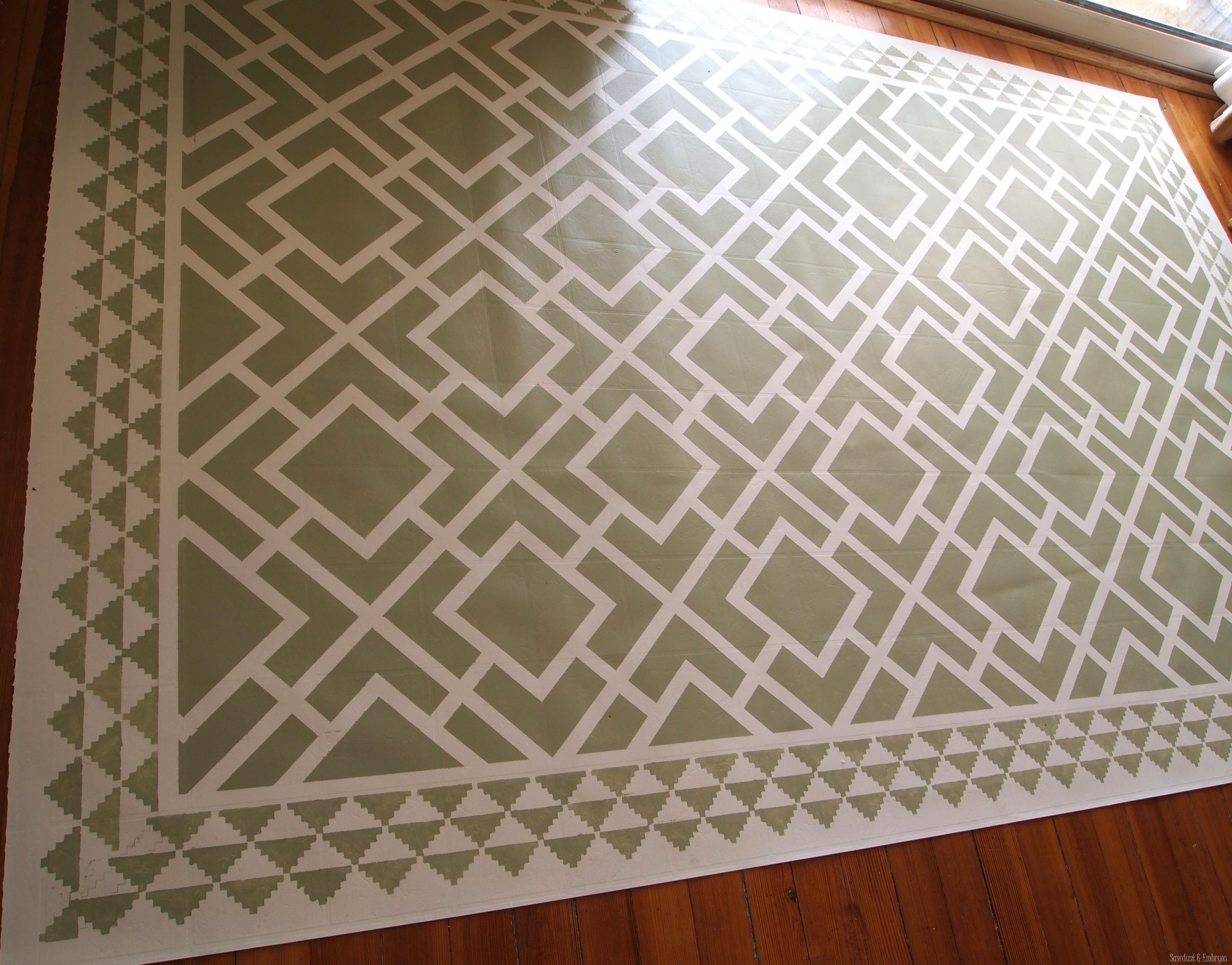 Vinyl Kitchen Floor Mats Diy Dining Room Area Rug Painted Linoleum Reality Daydream