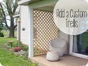 Build a Custom Trellis using pre-made lattice {Sawdust and Embryos}