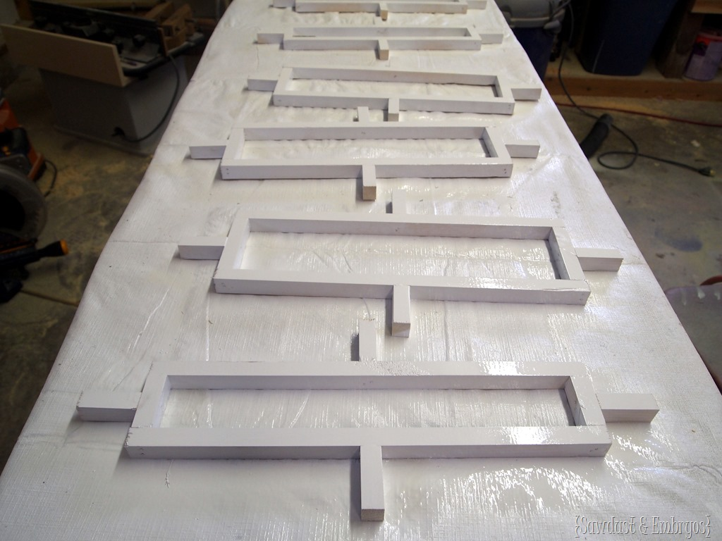 Geometric inlays for custom box planters reality daydream for Architectural trim