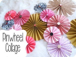 DIY Pinwheels using scrapbooking paper and vintage buttons