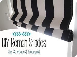 DIY Roman Shades {Sawdust and Embryos}