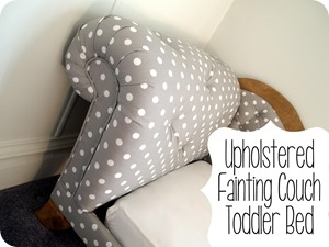 DIY Tufted Fainting Couch Toddler Bed TUTORIAL