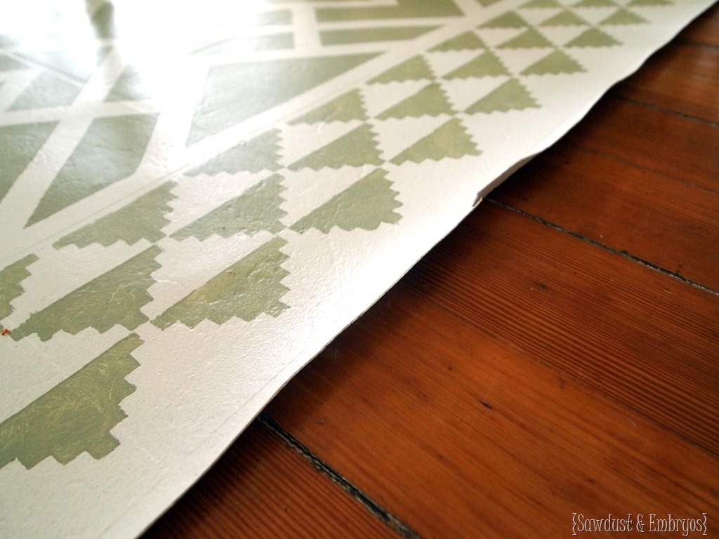 Thoughts On My Painted Linoleum Area Rug Reality Daydream