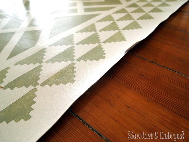 Do's and Don'ts for painted linoleum rugs {Sawdust and Embryos}
