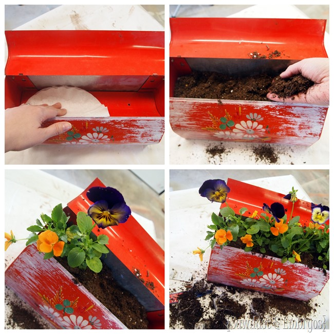 Making a mailbox into a planter {Sawdust and Embryos}