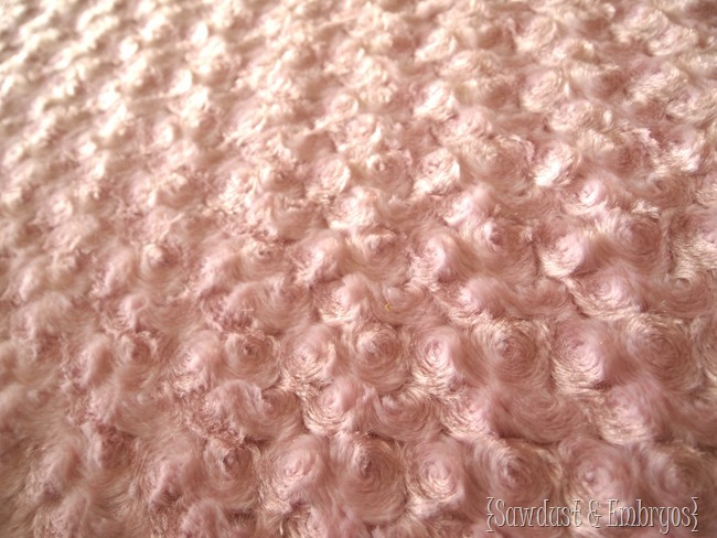 Minky Rosette Fabric from Online Fabric Store {Sawdust and Embryos}