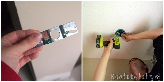 Switching out a light fixture {Sawdust and Embryos}