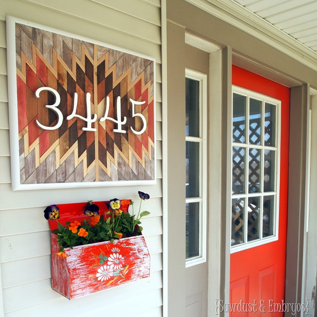 Turn an old mailbox into a planter, and affix it to the side of your house! {Sawdust and Embryos}