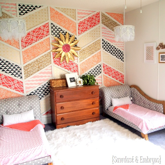 Twins' adorable toddler room transformation! {Sawdust and Embryos}