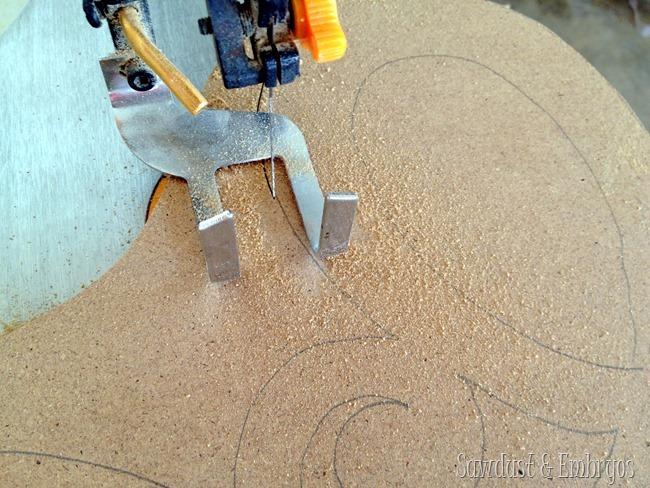 DIY Scroll Saw Decorative Mirror {Sawdust and Embryos}