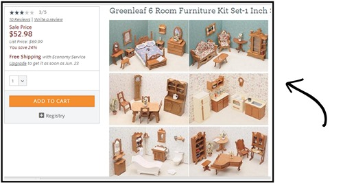 Dollhouse Furniture... ASSEMBLY REQUIRED! {Sawdust and Embryos}