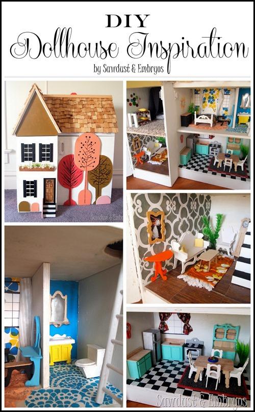 Lots of adorable dollhouse inspiration {Sawdust and Embryos}