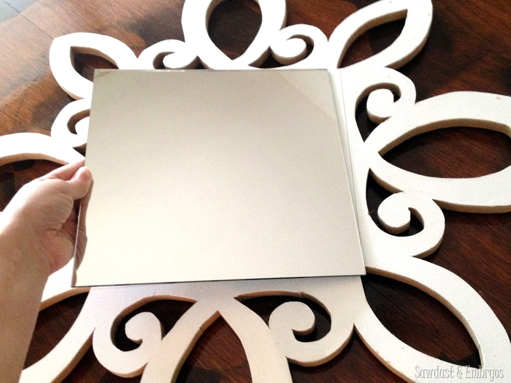 How to make a decorative mirror - Make Your Own Scalloped Decorative Mirror Sawdust And Embryos