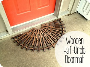 Build a half-circle wooden doormat