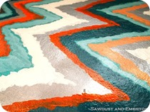 Chevron Ikat Artwork {Sawdust and Embryos}