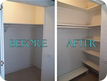 Custom Closet Shelving {Sawdust and Embryos}