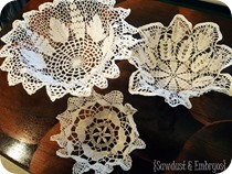 DIY Doily Bowls {Sawdust and Embryos}