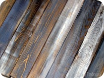 Distressed 'Barn Boards' {Sawdust and Embryos}