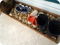 Drip Tray for Boots and Shoes {Sawdust and Embryos}