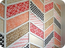 Herringbone Patchwork Wall {Sawdust and Embryos}