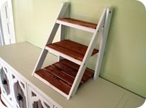 Mini Ladder Shelf for Serving on a Buffet {Sawdust and Embryos}