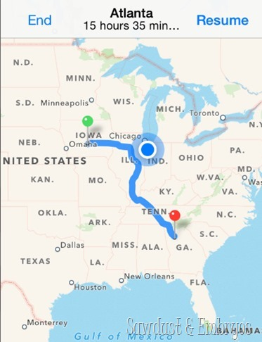 Our route to Atlanta {Sawdust and Embryos}