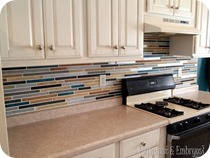 Paint your backsplash to look like TILE! {Sawdust and Embryos}