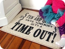 Time Out Rug {Sawdust and Embryos}