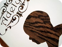 Wood Grain Profile Plaques {Sawdust and Embryos}
