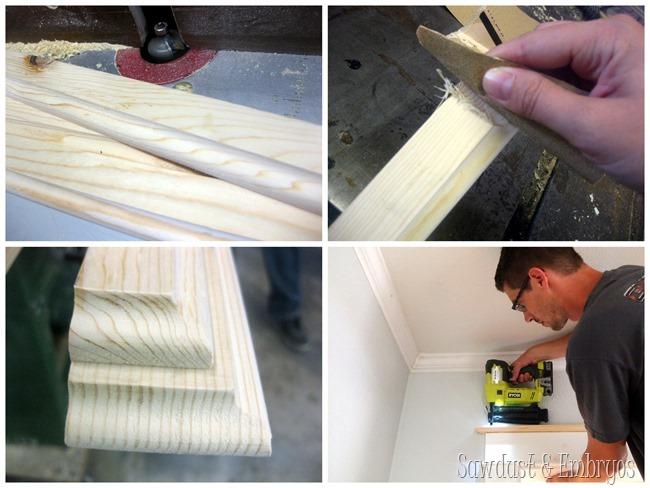 Adding trim above doorways and windows