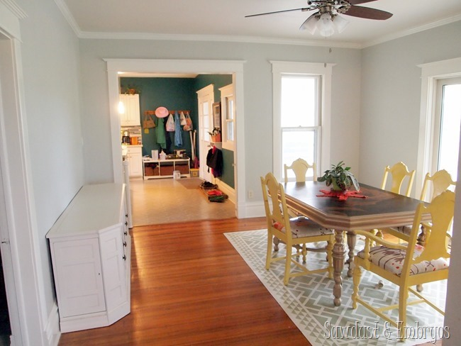 Dining room gets a new paint job! {Sawdust and Embryos}