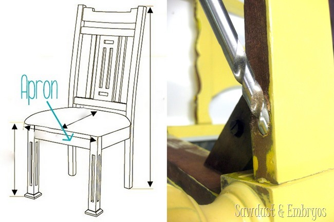 How to Stabilize Dining Chairs {Sawdust and Embryos}
