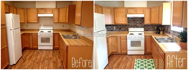 Kitchen before and after {Sawdust and Embryos}