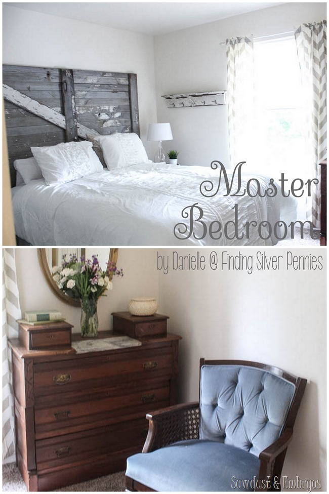 Master Bedroom Designed by Danielle @ Finding Silver Pennies