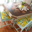 Gold-dining-table-mint-chairs-and-vintage-cushions-Sawdust-and-Embryos.jpg