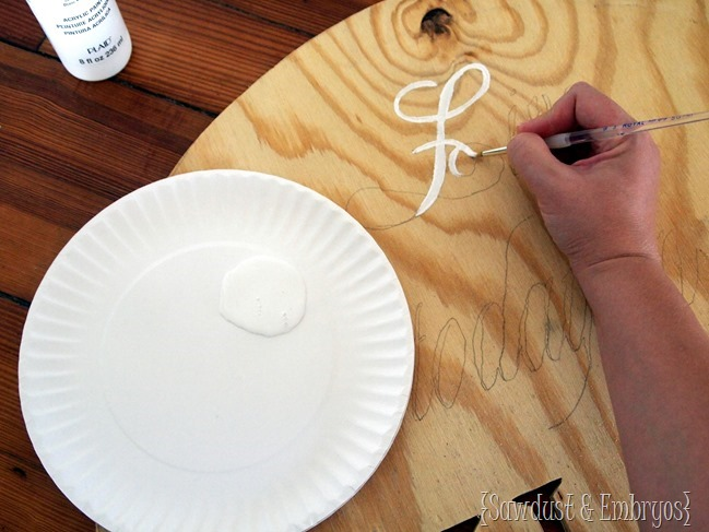 Make a sign or artwork using your favorite quote or phrase {Sawdust and Embryos}