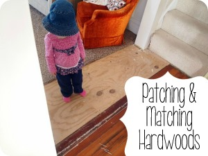 Patching and Matching Hardwood Floors {Sawdust and Embryos}