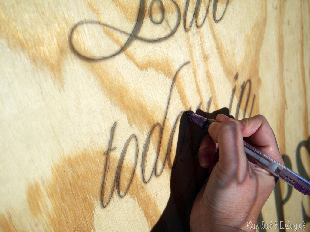 DIY Plywood Quote Artwork - Reality Daydream