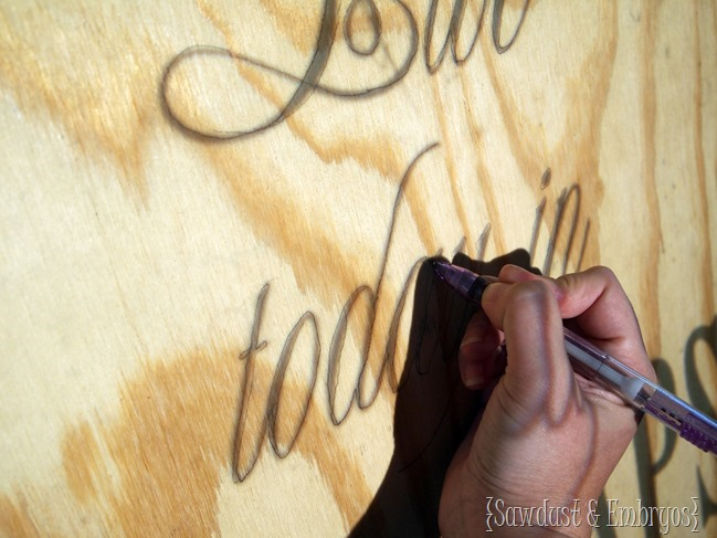 Project image with overhead projector, trace, and cut with a jigsaw for your own custom art! {Sawdust and Embryos}