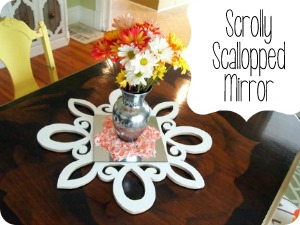 Scallopped Scrolly Mirror... for centerpiece OR starburst mirror! {Sawdust and Embryos}