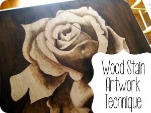 Wood Stain Artwork Technique {Sawdust and Embryos}