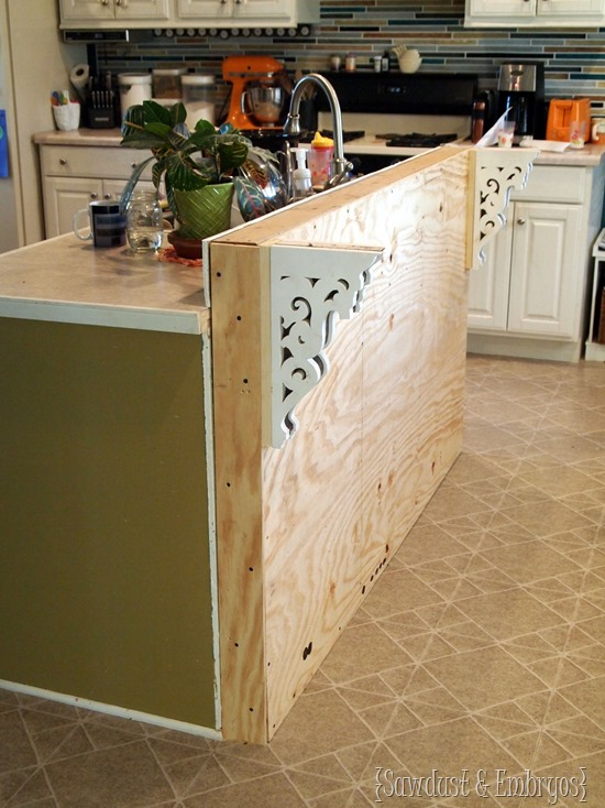 Add a breakfast bar to an existing kitchen island.