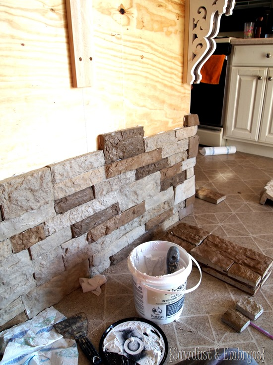 Adding AirStone to breakfast bar {Sawdust and Embryos}