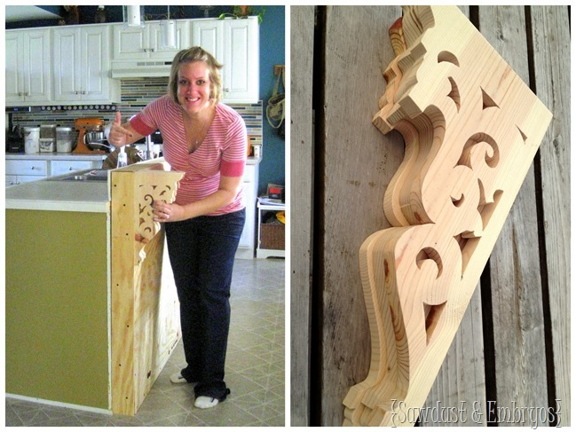 Building a breakfast bar with DIY corbels!